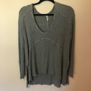 Free People super soft grey pullover shirt